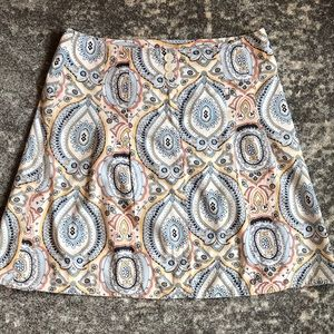 Ann Taylor LoFt paisley skirt size 12